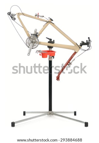 Bicycle repair stand  - stock photo