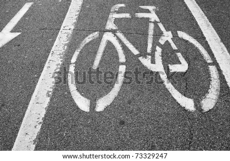 Bicycle reserved lane sign