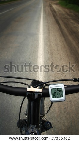 Bicycle running along the road