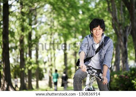 Bicycle, school, student - stock photo