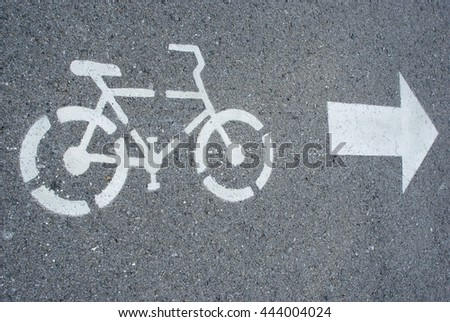 Bicycle sign, Bicycle Lane