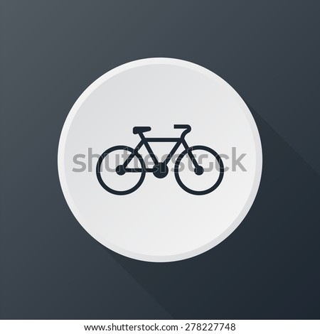 bicycle sign icon - stock photo