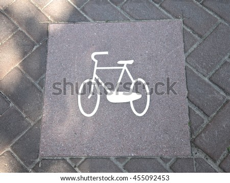Bicycle sign, in Amsterdam street, Netherlands, Europe