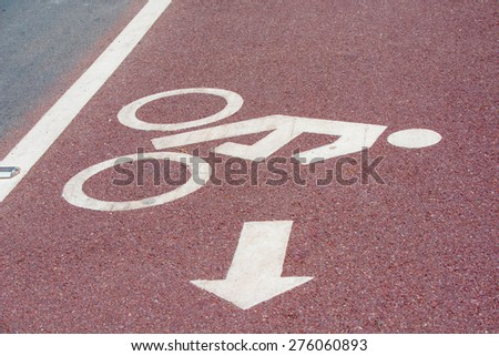 bicycle sign on road