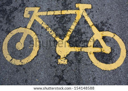 Bicycle signs on the road  - stock photo