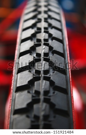 Bicycle tires. - stock photo