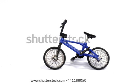 Bicycle toy on a white background.