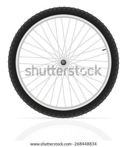 bicycle wheel illustration isolated on white background