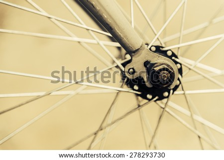Bicycle wheel - vintage effect style pictures