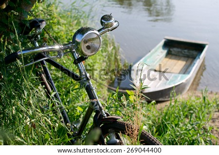 Bicycle with boat