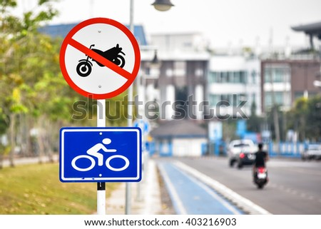 Bicycle zone in Thailand