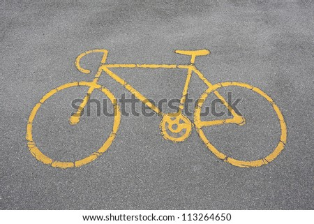 bicycles allowed sign - stock photo