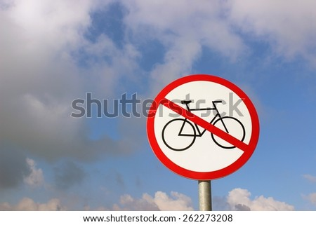 Bicycles forbidden - stock photo