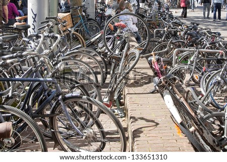 Bicycles on the street