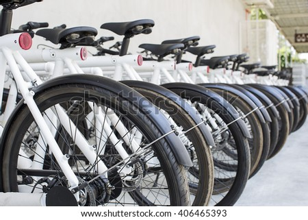 Bicycles parking
