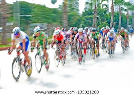 bicycling - stock photo