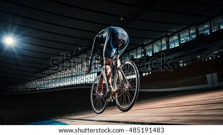 Bicyclist on cycle track