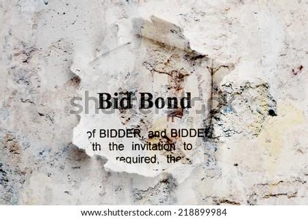 Bid bond - stock photo