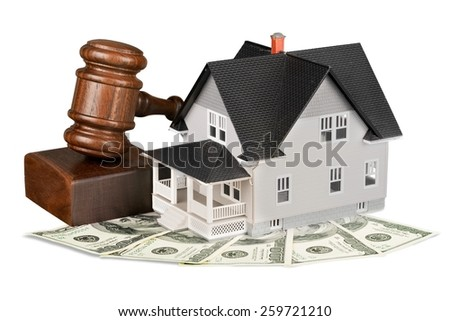 Bidding on a home  - stock photo