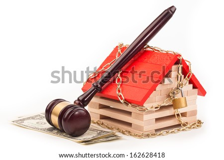 Bidding on a house - stock photo