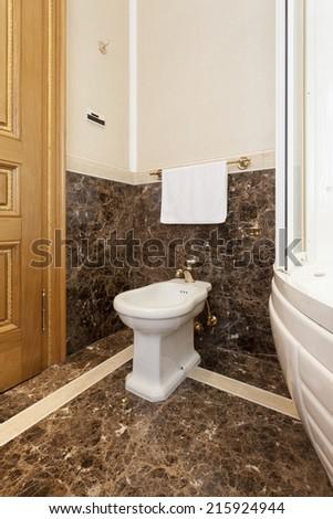 Bidet in luxury bathroom interior  - stock photo