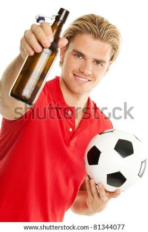 bier und fussball - stock photo