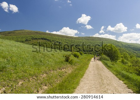 Bieszczady Mountains in southeast Poland, Worldwide Biosphere Reserve and National Park area, Europe