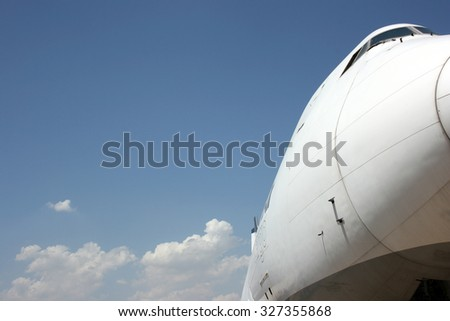 Big Aircraft Nose View - stock photo