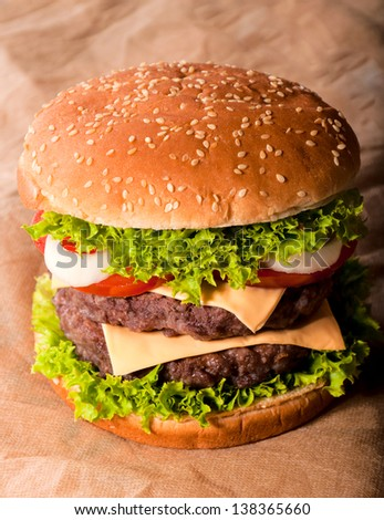 Big and tasty double cheeseburger