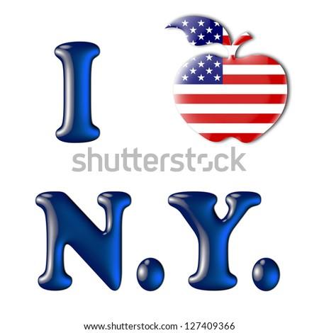 big apple usa flag love new stock illustration 127409366 - shutterstock