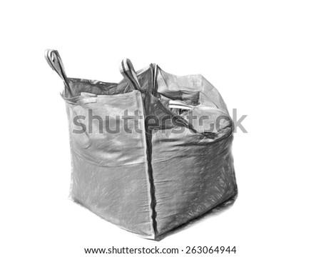 big bag  - illustration based on own photo image - stock photo