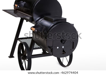 big bbq machine, barbecue, isolated