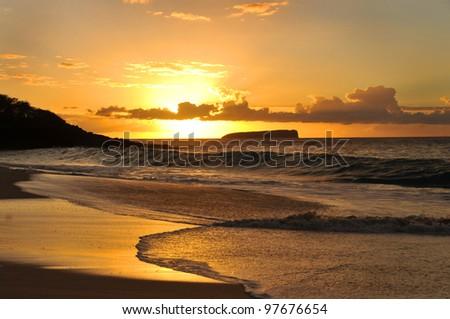 Big Beach at Makena State Park, Maui, Hawaii - stock photo