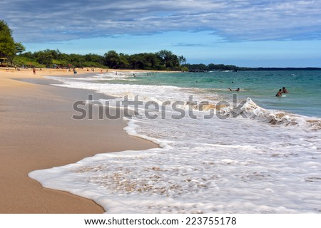 Big Beach (Makena) on the island of Maui, Hawaii - stock photo
