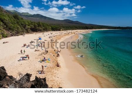 Big Beach - Maui Hawaii - stock photo