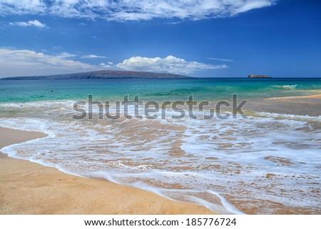 Big Beach Maui, Hawaii - stock photo