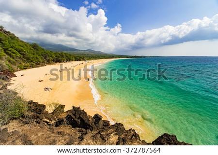 Big Beach on Maui, Hawai'i - stock photo