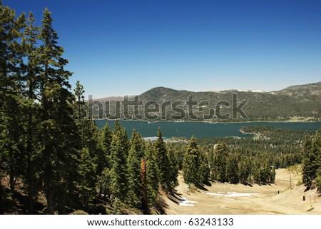 big bear lake - stock photo