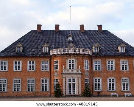 Big beautiful classical design mansion house estate Denmark