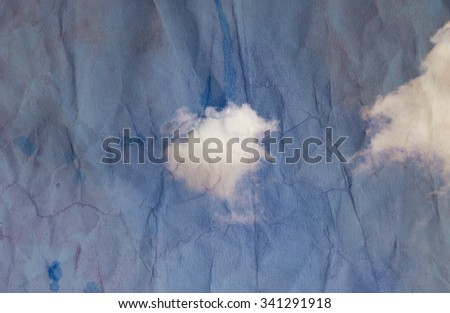 Big beautiful white cloud photographed close up - stock photo