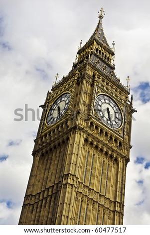 Big Ben against cloudy sky - stock photo