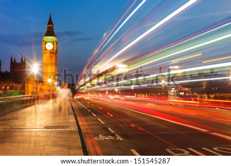 Big Ben and House of Parliament at night, London UK