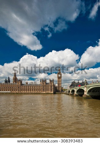 Big Ben and the Houses of Parliament in London, UK