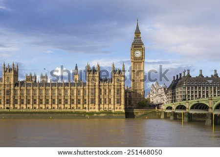 Big Ben and The Palace of Westminster,London, UK