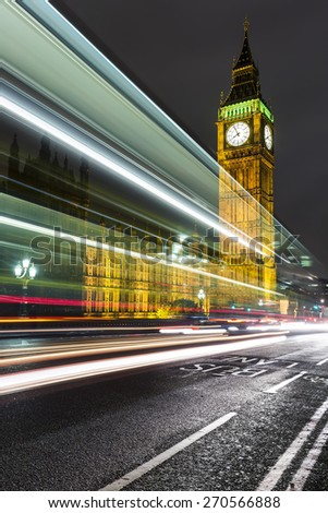 Big Ben and The Palace of Westminster,London, UK - stock photo