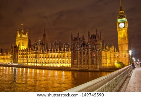 Big Ben and the Parliament, London - stock photo