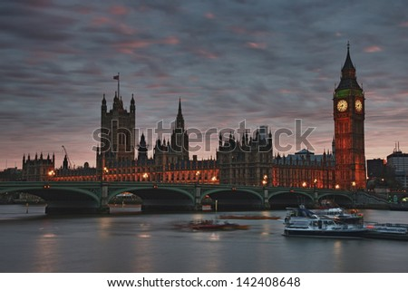 Big Ben and Westminister the House of Parliament, London, UK - stock photo