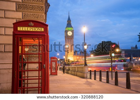 Big Ben and Westminster abbey in London, England - stock photo