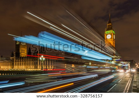 Big Ben and Westminster palace London