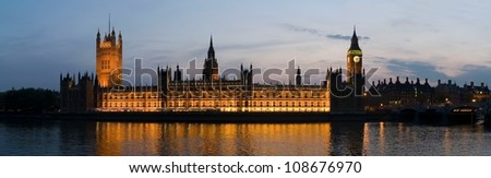 Big Ben and Westminster Parliament at night in city of London, United Kingdom
